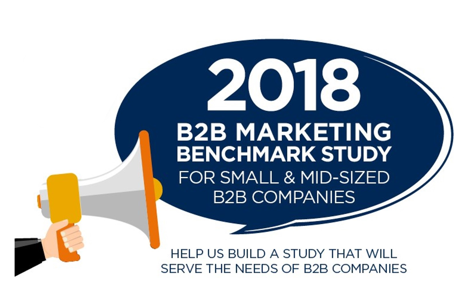 2018 B2B Marketing Benchmark Study Call for questions no learn more callout-1